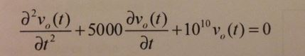 Assume that initial conditions are: vo(0) = 0 ;