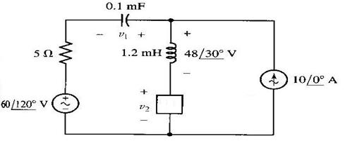 Let ? = 5000 rad/s in the circuit below, answer th