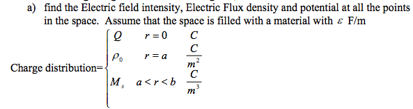 find the Electric field intensity, Electric Flux d