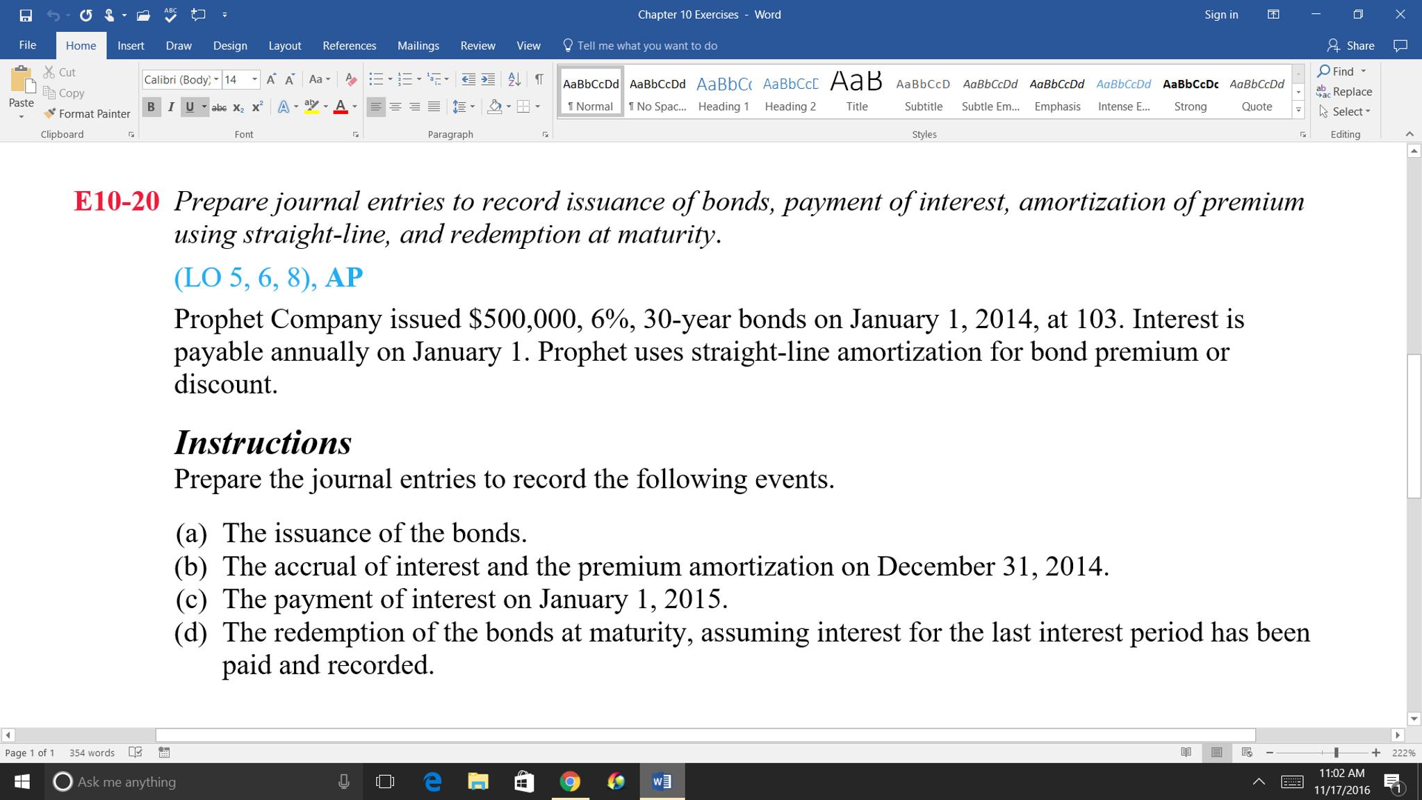 bond premium amortization