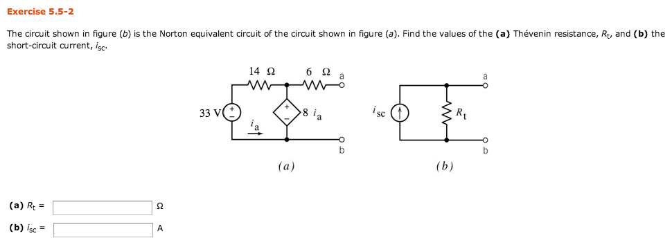 The circuit shown in figure (b) is the Norton equi