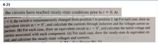 The circuit have reached steady-state conditions p