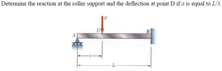 Determine the reaction at the roller support and t