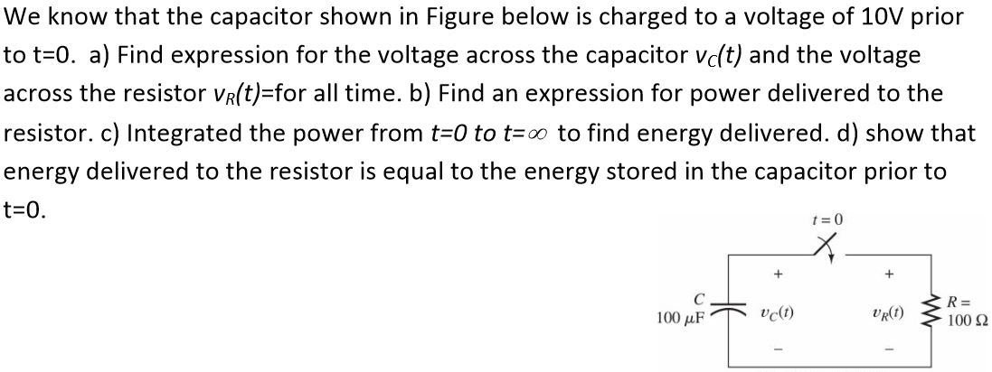 We know that the capacitor shown in Figure below i