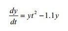 Solve the following initial value problem over the