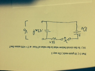 In the circuit below what is the value of V out at