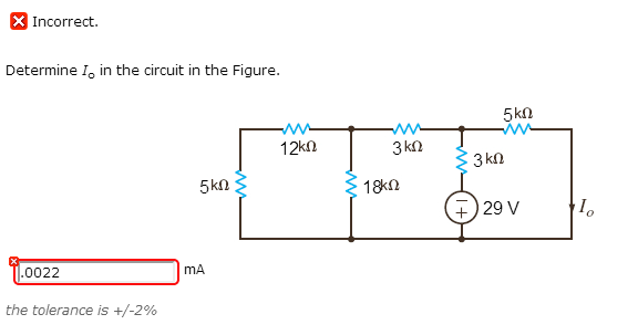 Determine Io in the circuit in the circuit in the