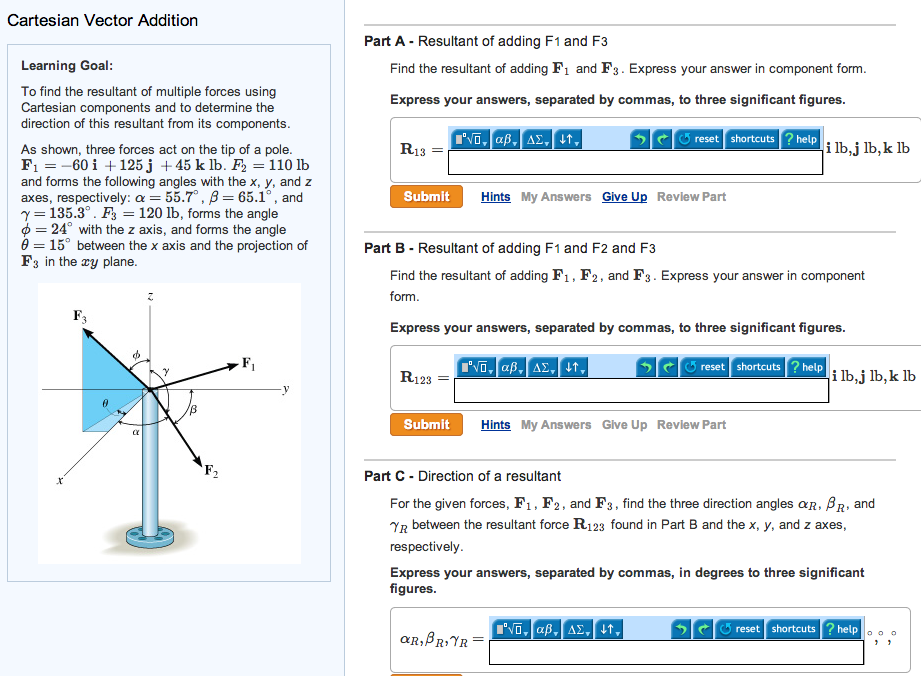 To Find The Resultant Of Multiple Forces Using Car... | Chegg.com