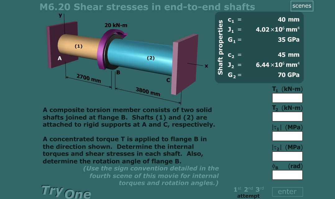 torsion sample questions Torsion occurs when an object, such as a bar with a cylindrical or square cross section (as shown in the figure), is twisted the twisting force acting on the object is known as torque, and the resulting stress is known as shear stress.