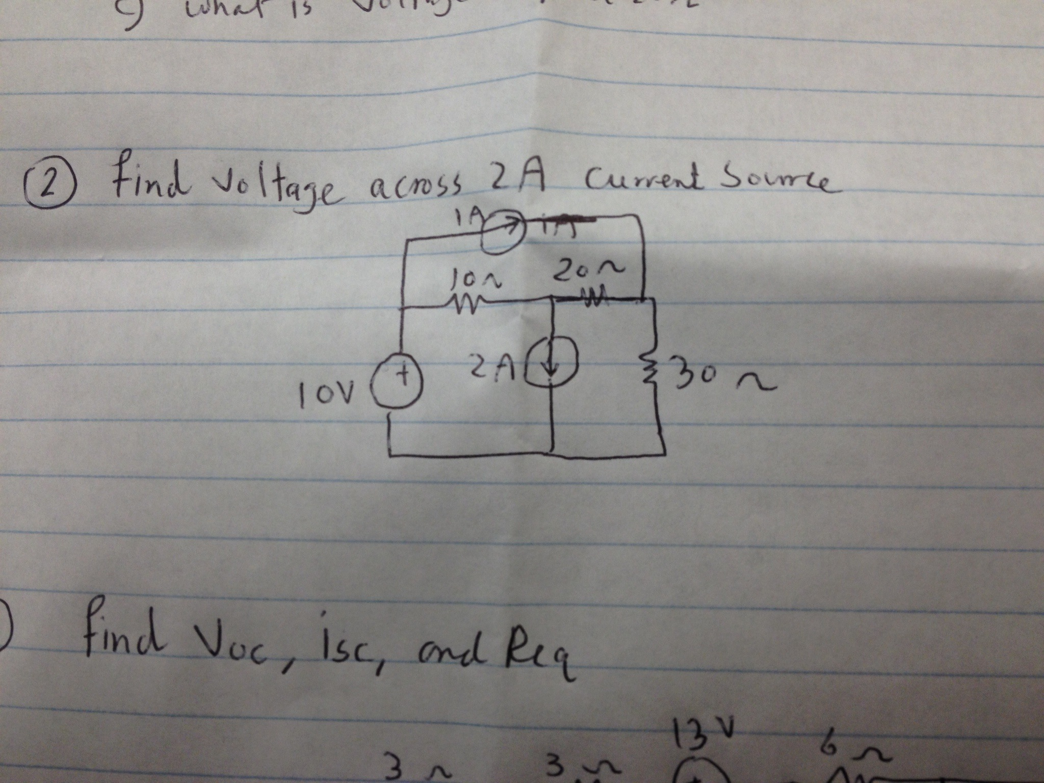 Find Voltage across ZA current source