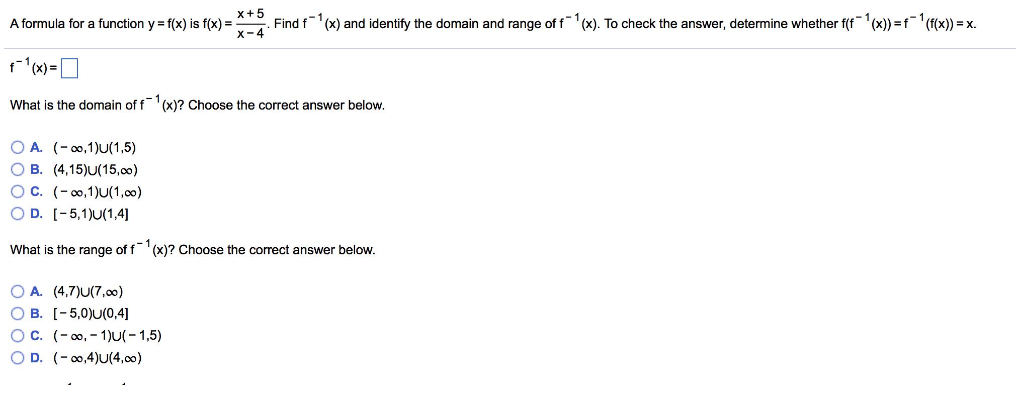 A Formula For A Function Y = F(x) Is F(x) = X + 5/... | Chegg.com