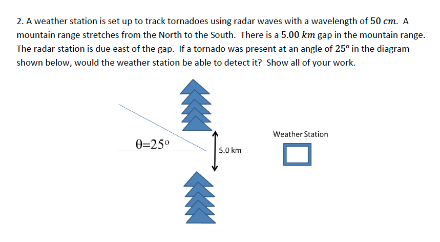Solved A Weather Station Is Set Up To Track Tornadoes Usi