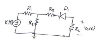 For the circuit shown below, R1 = 1000 ?, R2 = 5