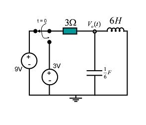 1. For the second order transient circuit shown in