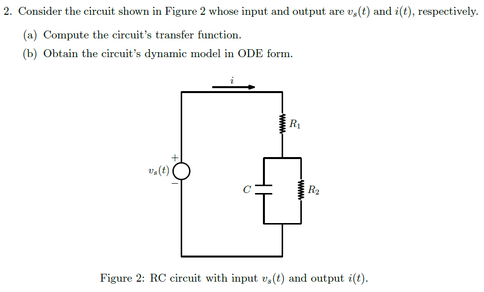 Consider the circuit shown in Figure 2 whose input