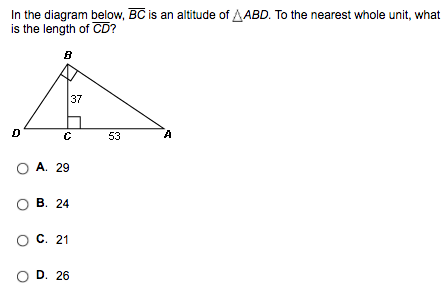 In The Diagram Below BC Is An Altitude Of ABD To Cheggcom - What is altitude