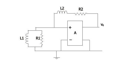The figure shows the circuit diagram of an oscil