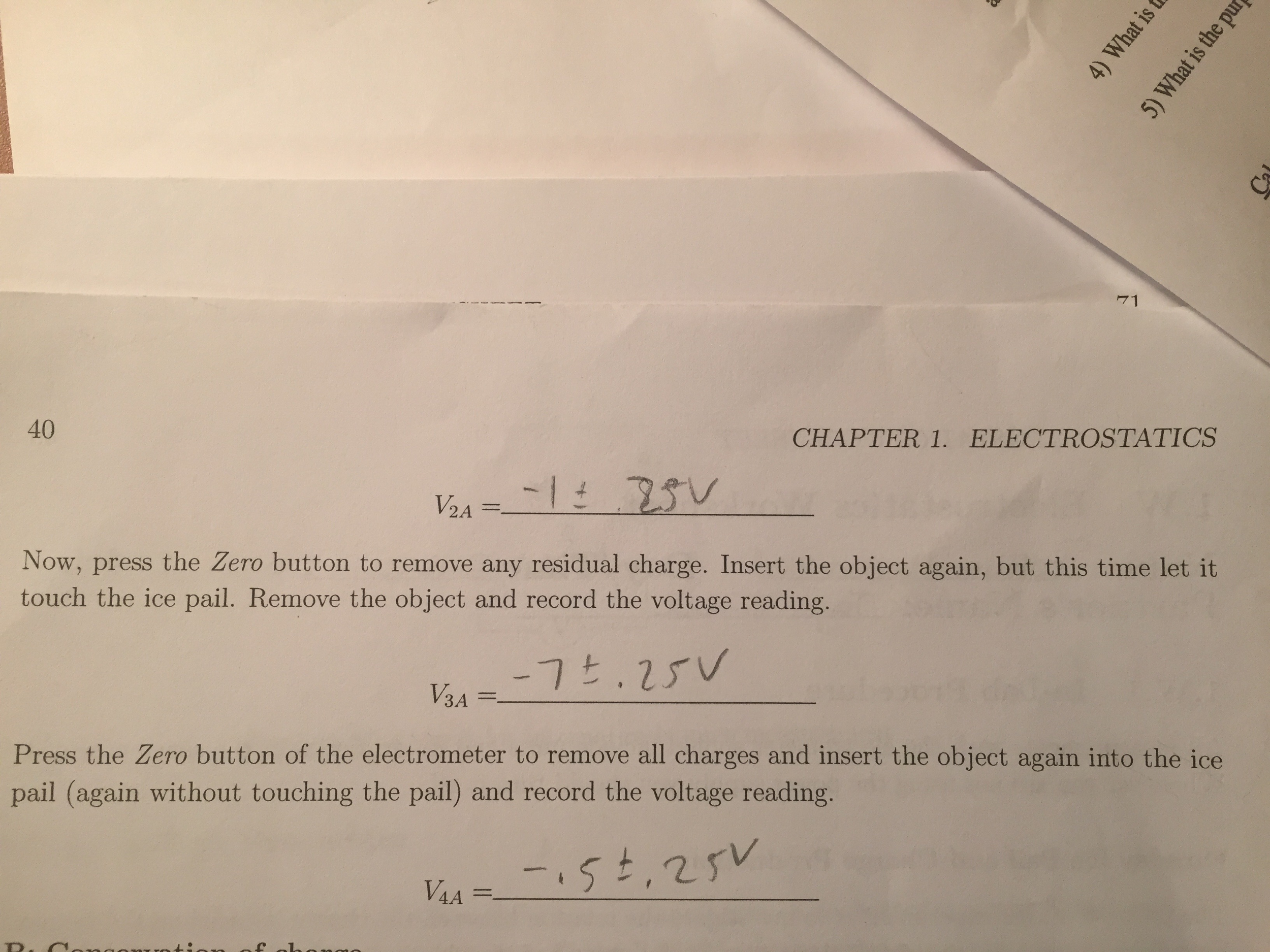 i need physics help regarding electrometers and el com 1 explain why there was a potential difference between the pail and the shield only while the charged object was innside where the object did not touch