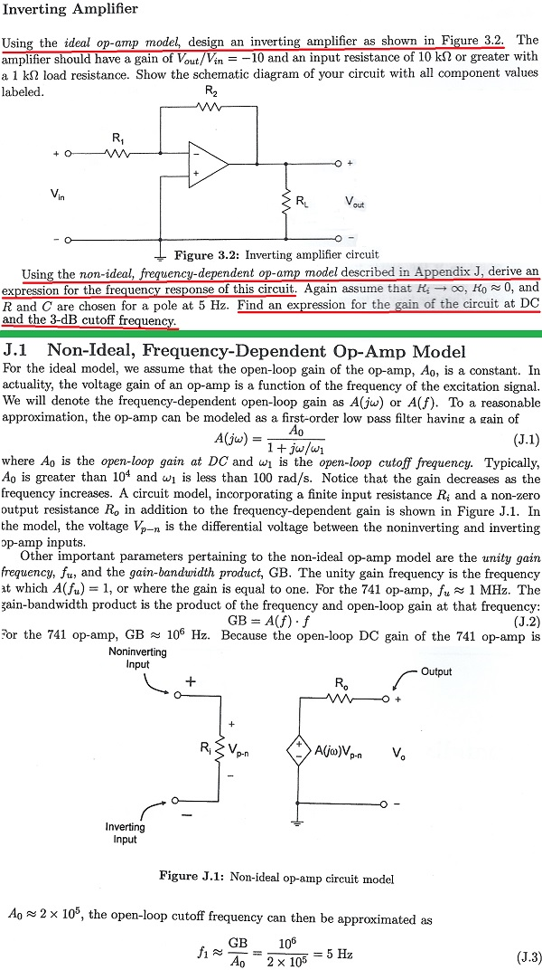 Using the ideal op-amp model, design an inverting