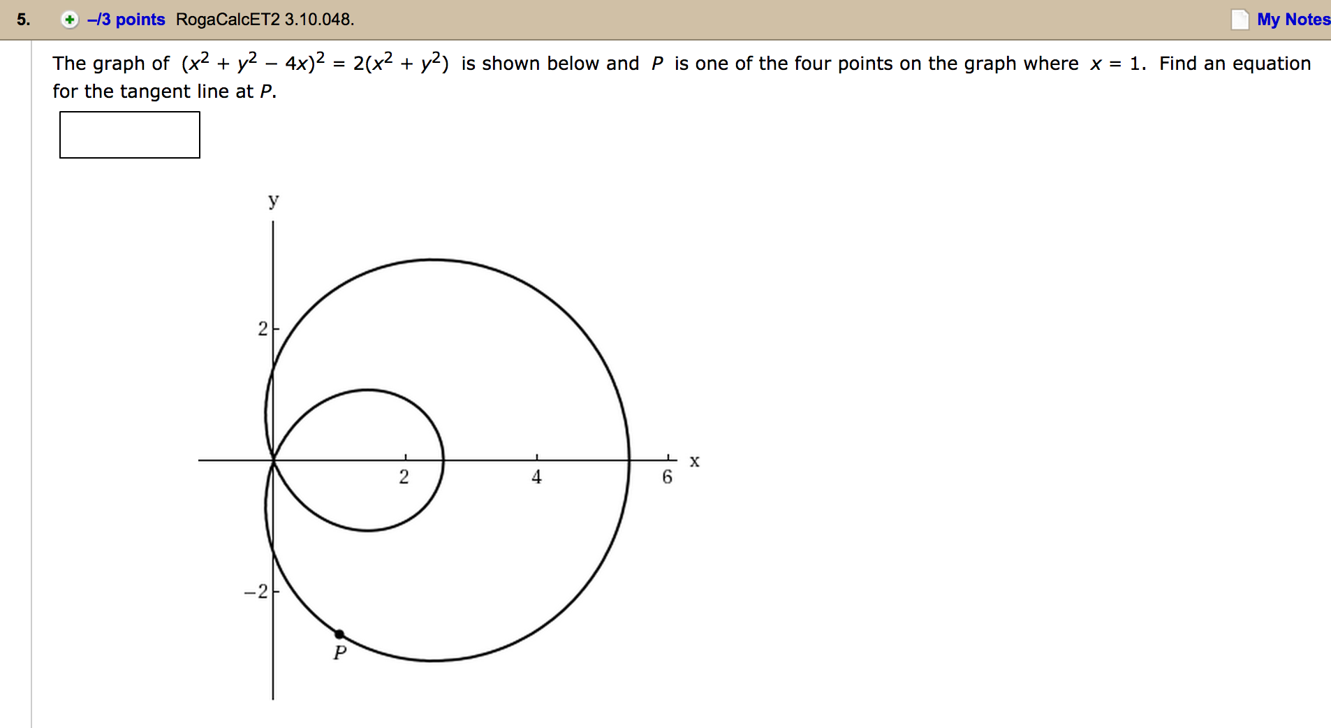 how to find a tangent using one point