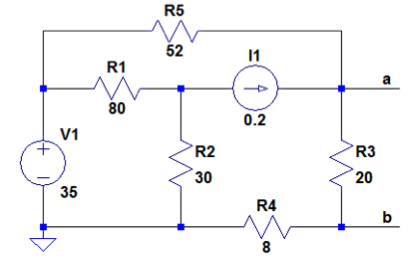 Find the Thevenin equivalent of the circuit for po