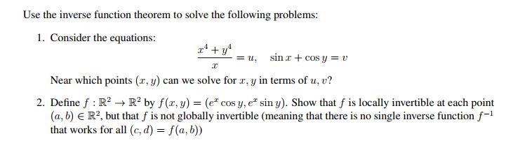 inverse function theorem