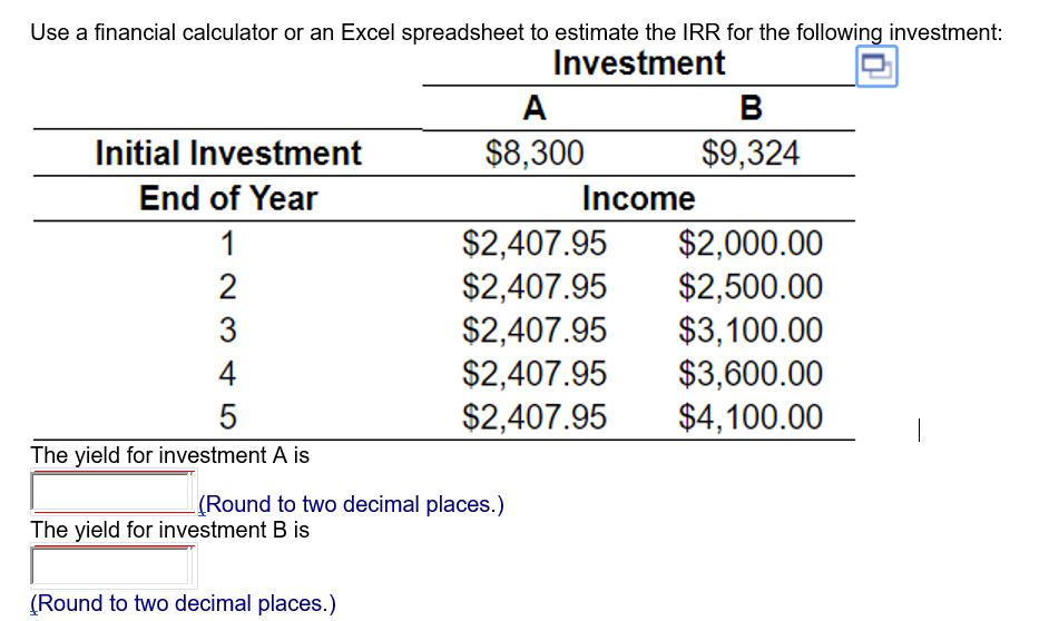 excel investment calculator