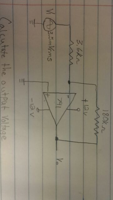 calculate the output voltage