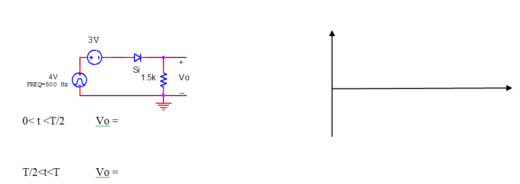 Calculate and sketch the one period of output volt
