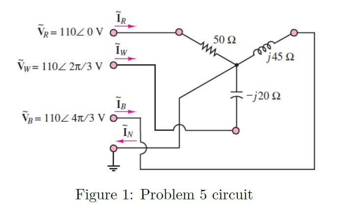 For the three-phase circuit shown in figure 1, f