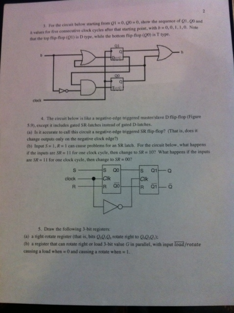 For the circuit below from Q1 = 0, Q0 = 0, show th