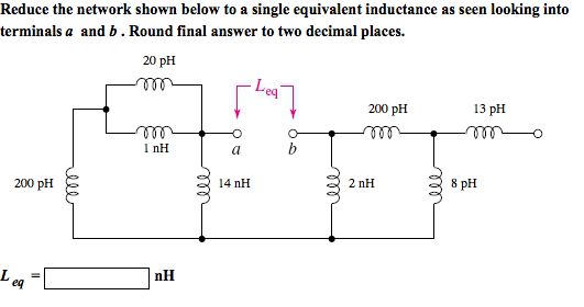 Reduce the network shown below to a single equival