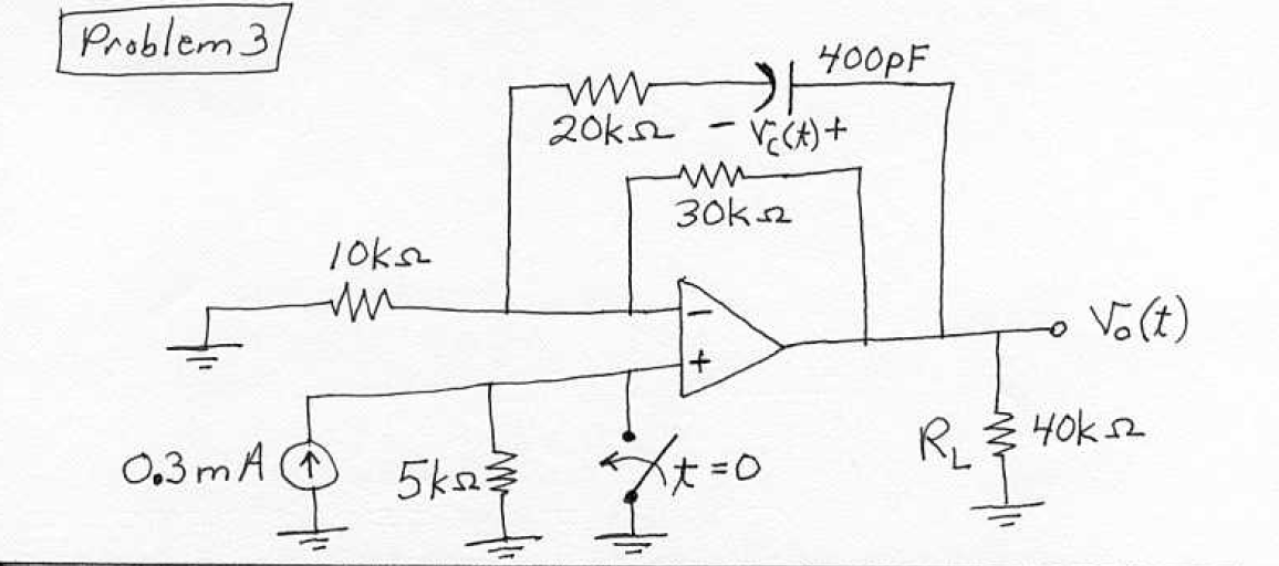 Find the capacitor voltage vC(