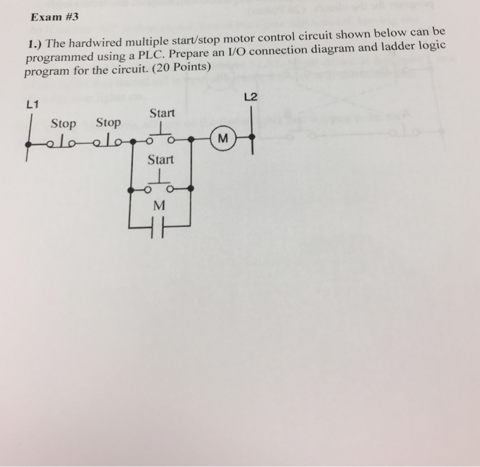 Solved the hardwired multiple startstop motor control ci question the hardwired multiple startstop motor control circuit shown below can be programmed using a plc ccuart Gallery