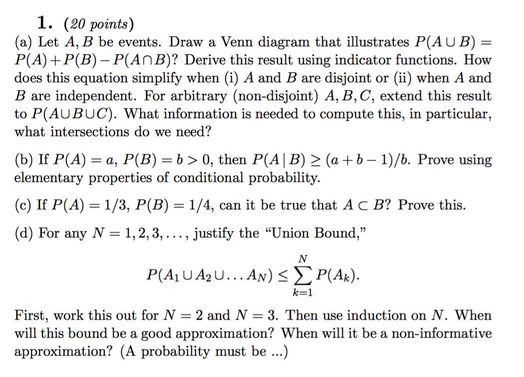 Let a b be events draw a venn diagram that illus chegg draw a venn diagram that illus pooptronica