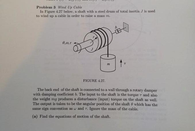 Electrical Engineering Internships >> Solved: In Figure 4.27 Below, A Shaft With A Steel Drum Of... | Chegg.com