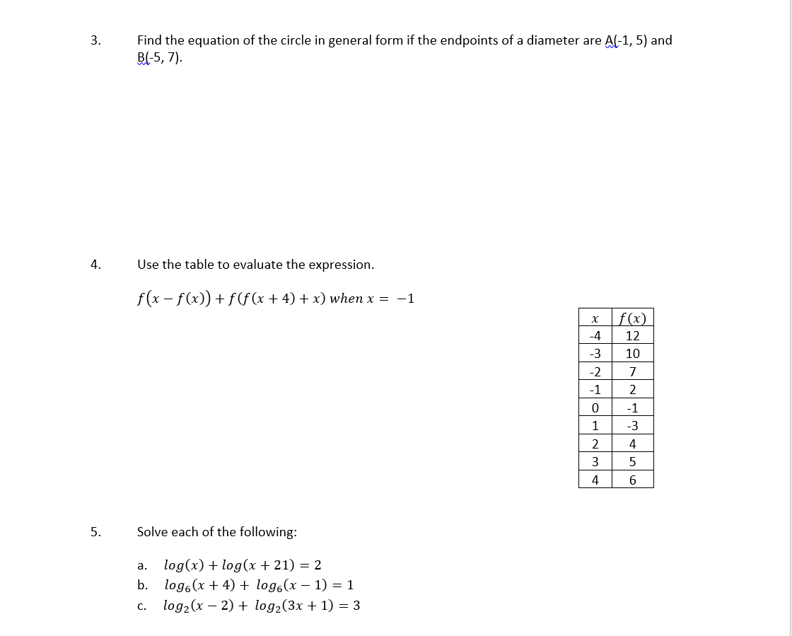 critical thinking assignment college algebra i nee com critical thinking assignment college algebra i need assistance my critical thinking assignment please show all of your work and please answer all of