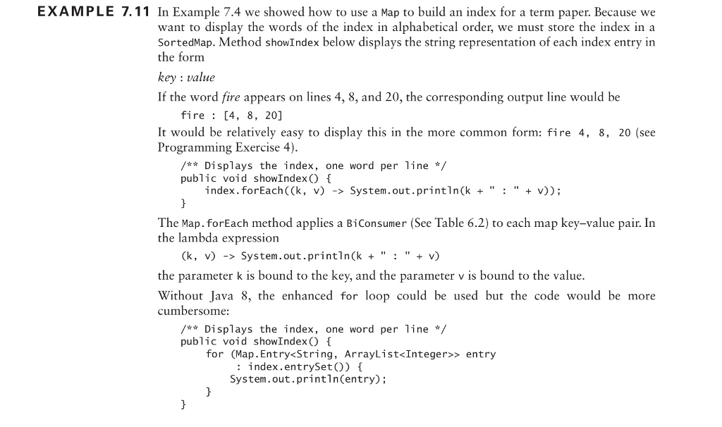 Java: Modify Method ShowIndex So Each Output Line ...   Chegg.com