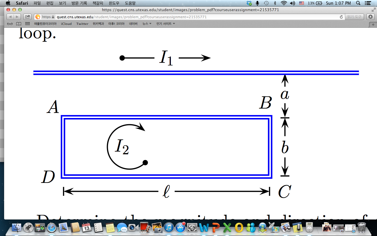 Determine themagnitude and direction of the net magnetic force exerted