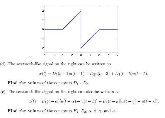 The sawtooth-like signal on the right can be writt