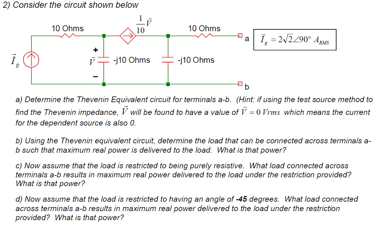 Consider the circuit shown below Determine the Th