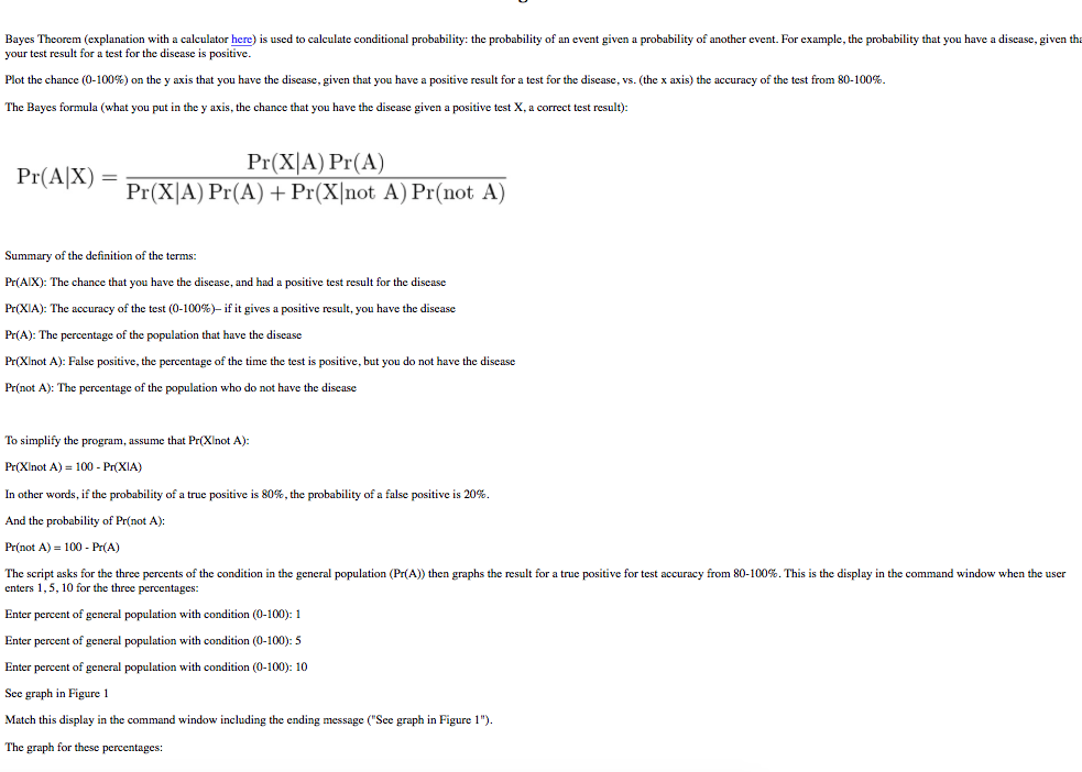 Solved: Bayes Theorem (explanation With A Calculator Here ...