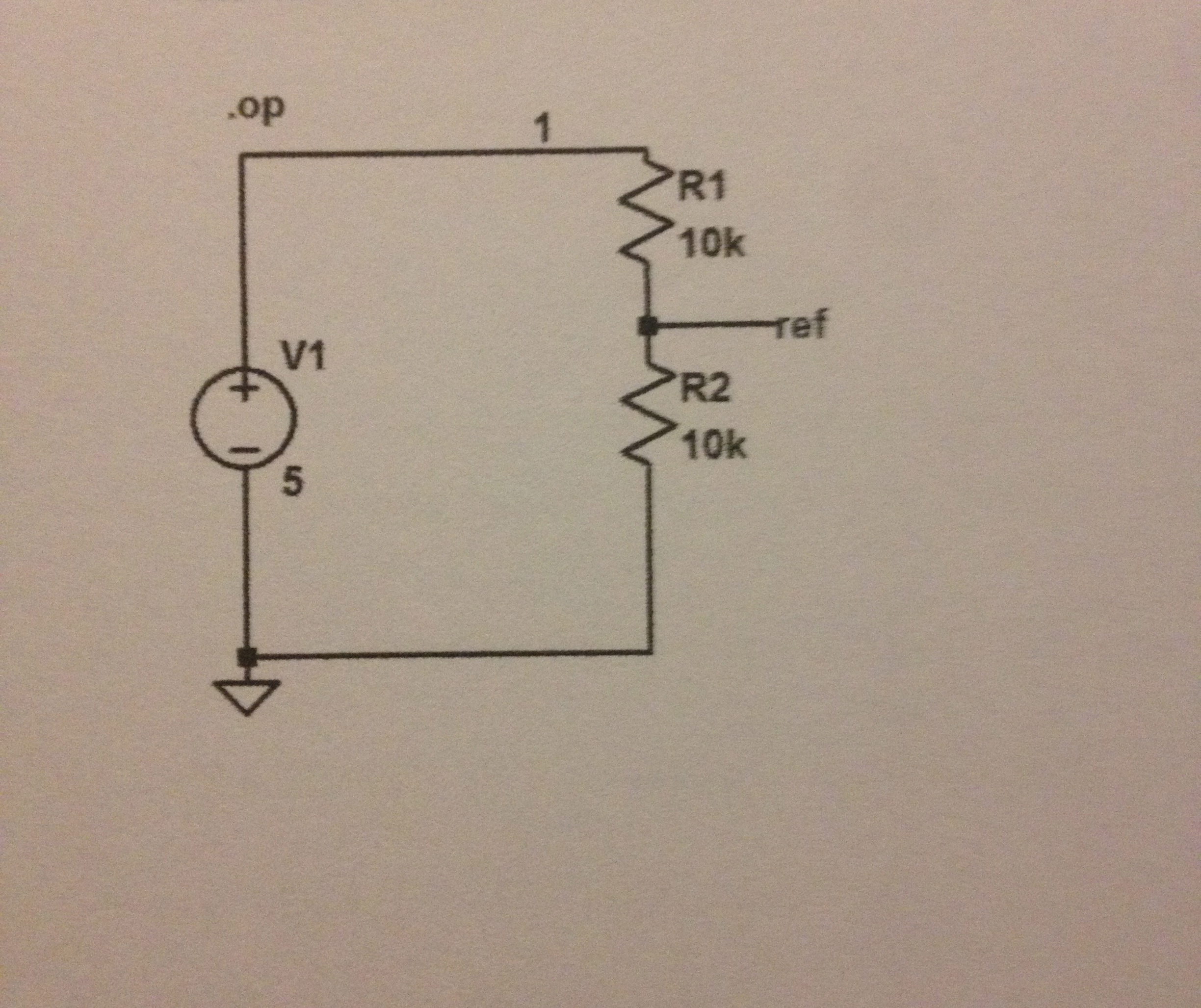 For the circuit, find the max and min voltage V(re