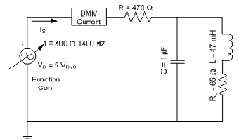Construct the Circuit Set the function generator