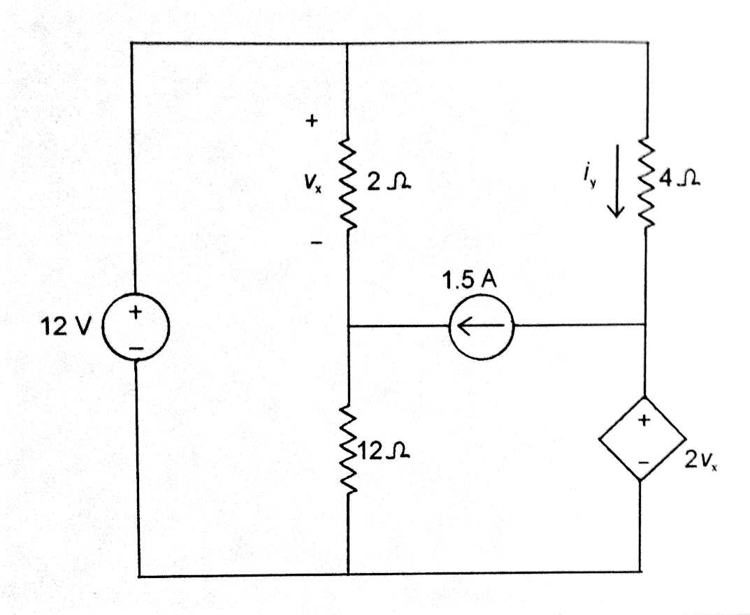 A) Perform nodal analysis on this circuit to deter