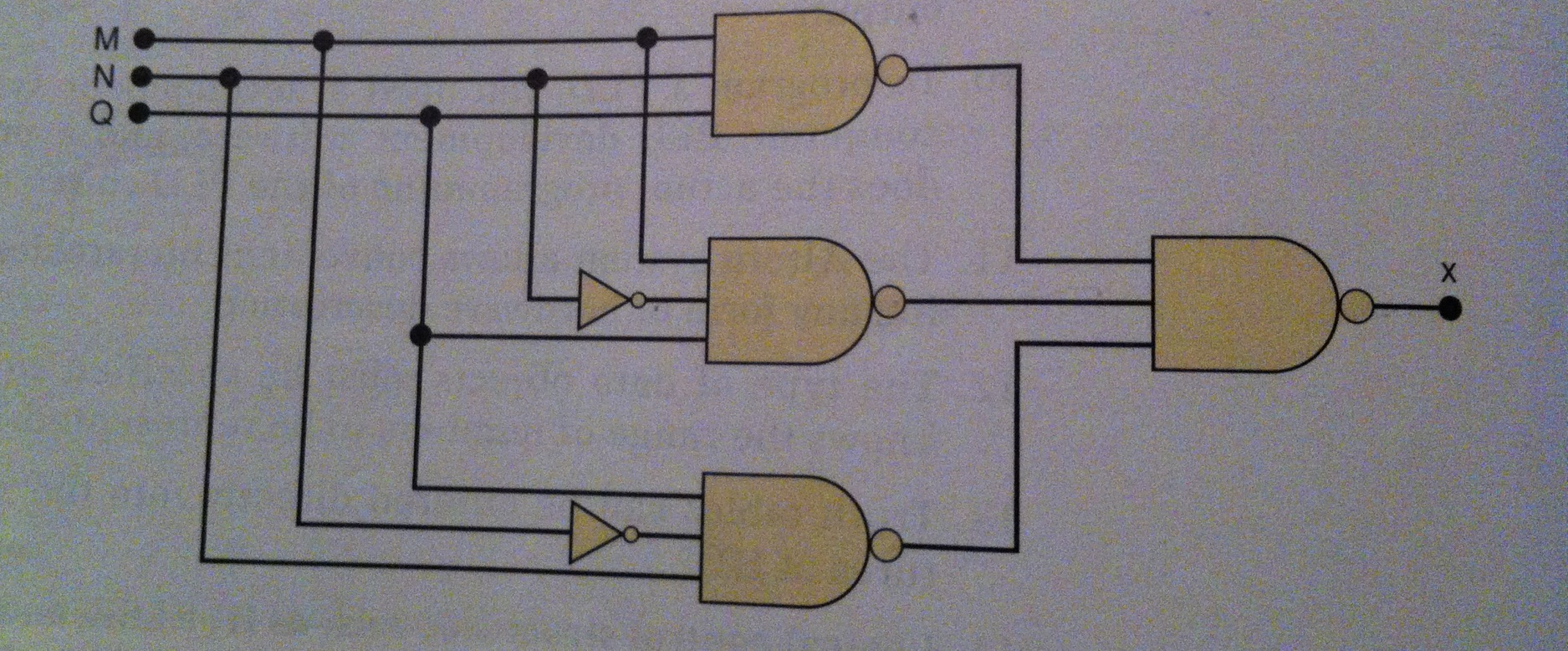 Simplify the circuit using Boo