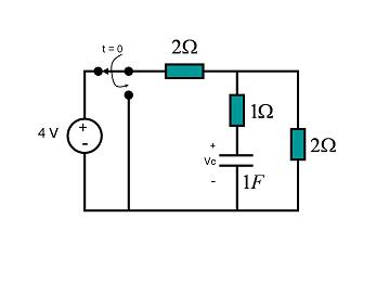 1. The circuit shown includes a switch that i