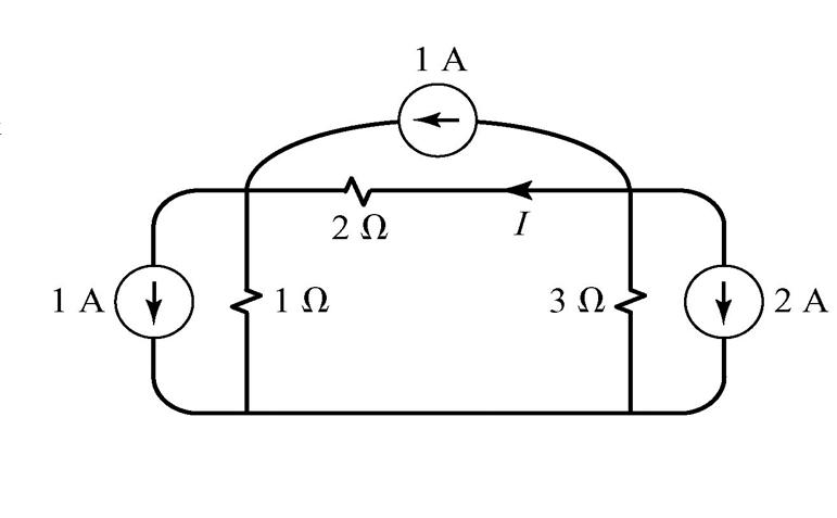 Determine the current I in this Circuit using node