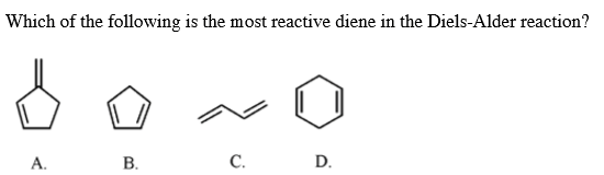 Which of the following is the most reactive diene