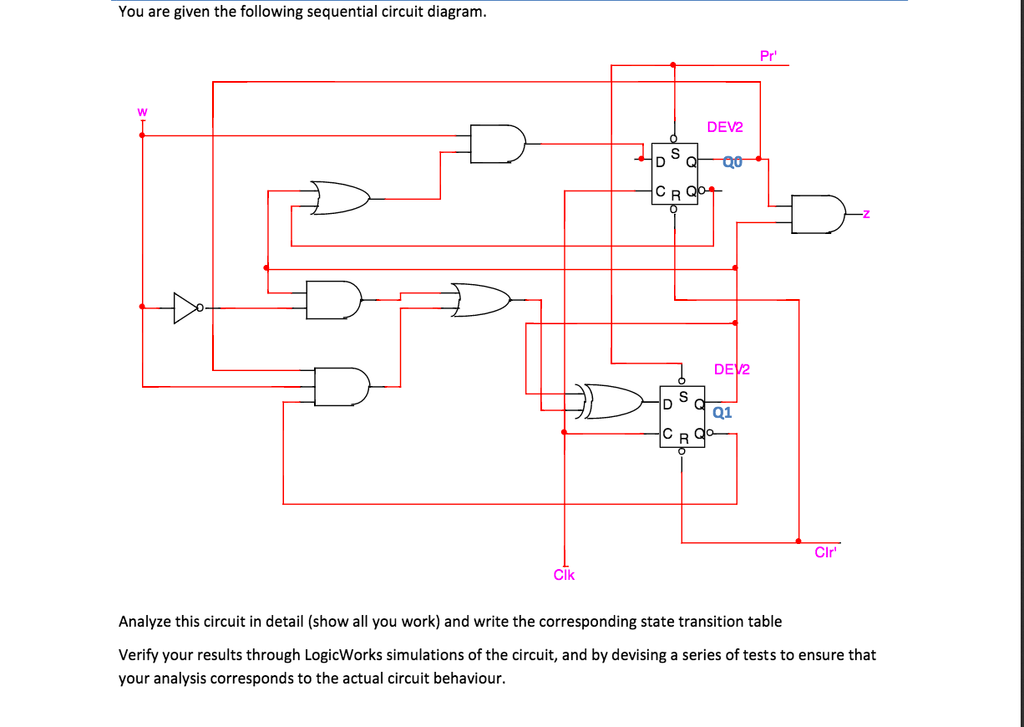 solved you are given the following sequential circuit dia rh chegg com Site Architect Diagrams schematic diagram analysis